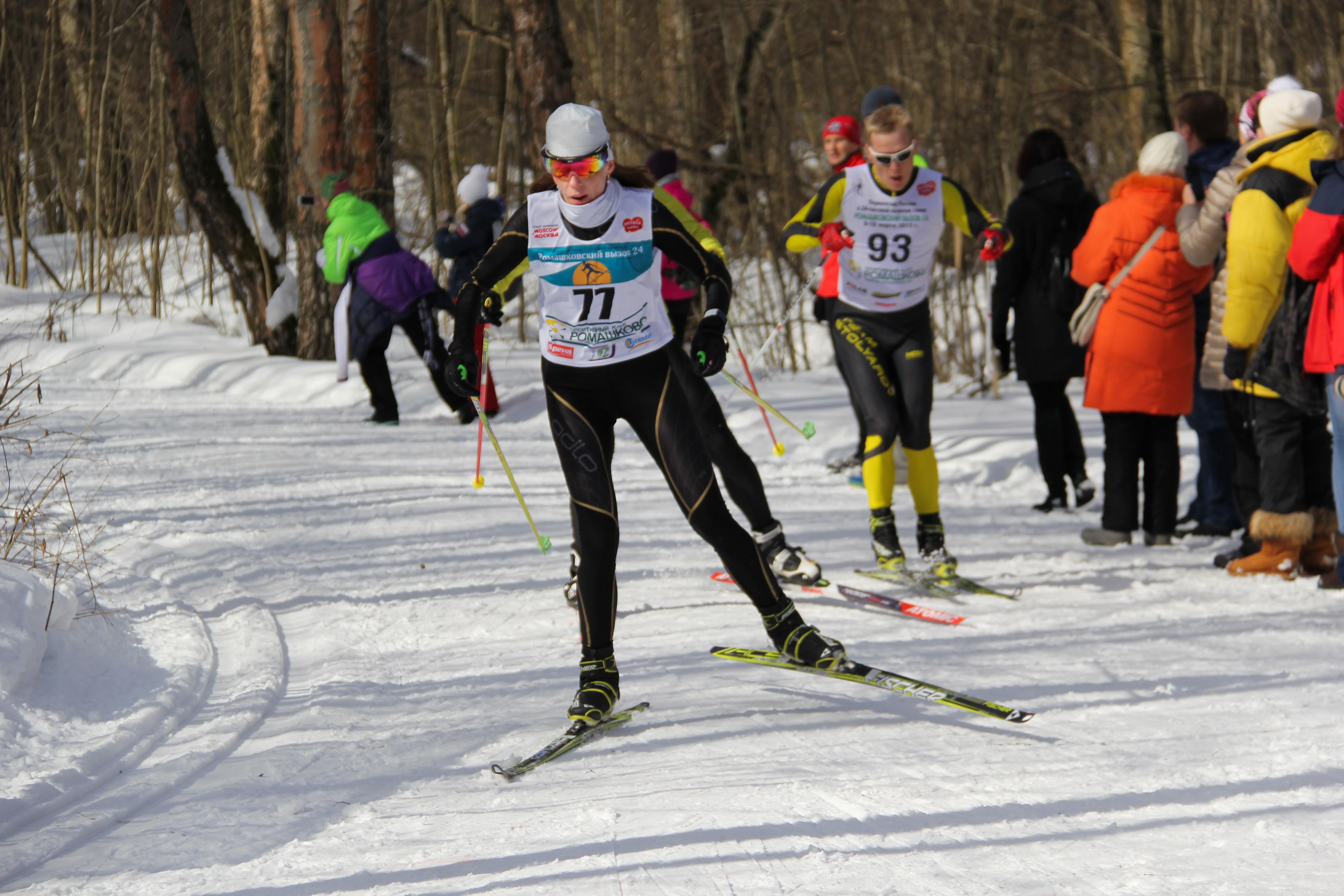 """Триатлон-эстафета """"Зима-Лето"""" 25.03.2018 в Ромашково (бег, велосипед, лыжи). Лыжный этап"""