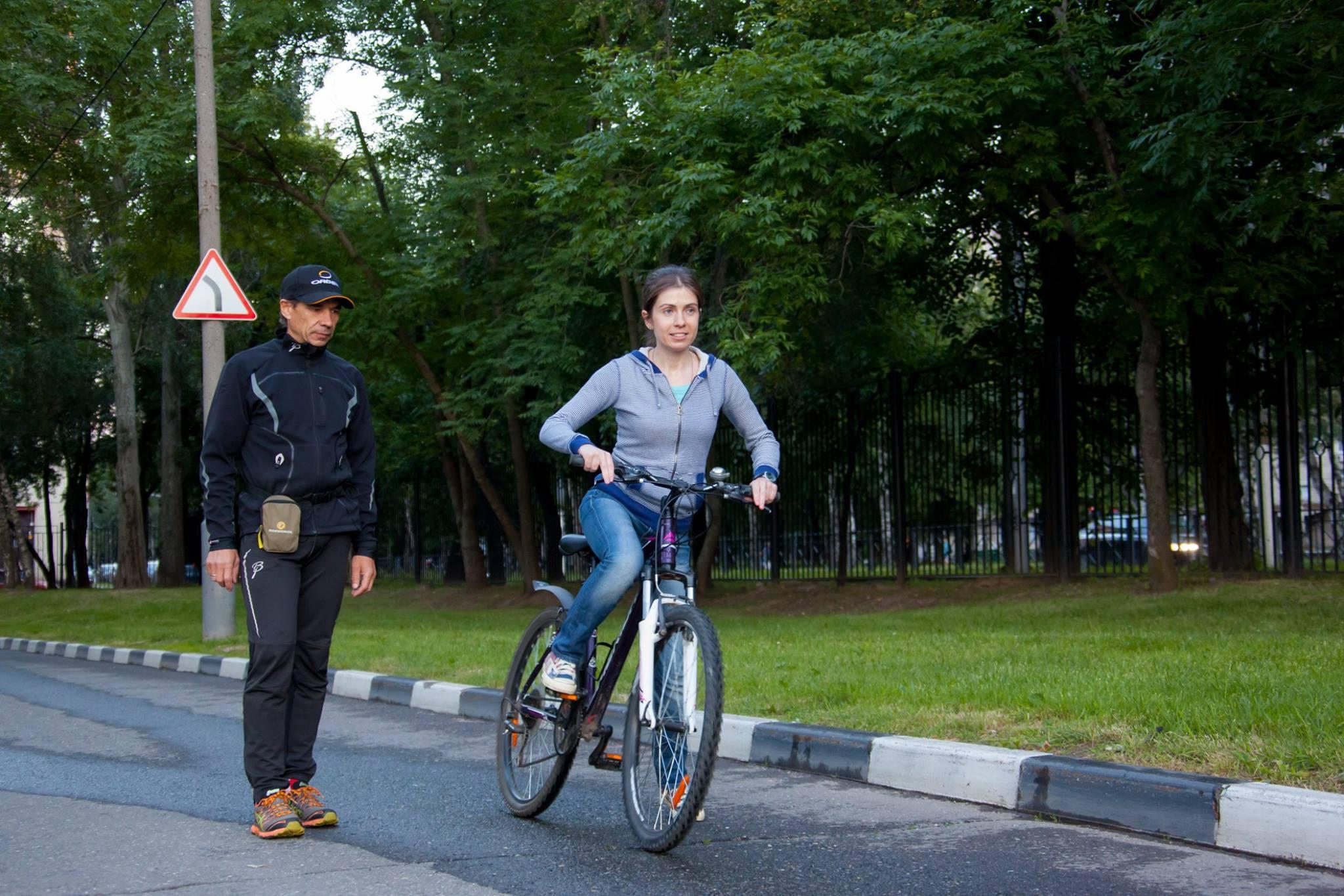 Клуб STRELA помогает взрослым и детям от 5 до 60 лет научиться кататься на велосипеде