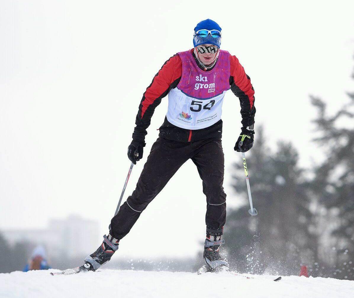 Григорий Сабиров на лыжном марафоне SkiGrom 50k 25 февраля 2018