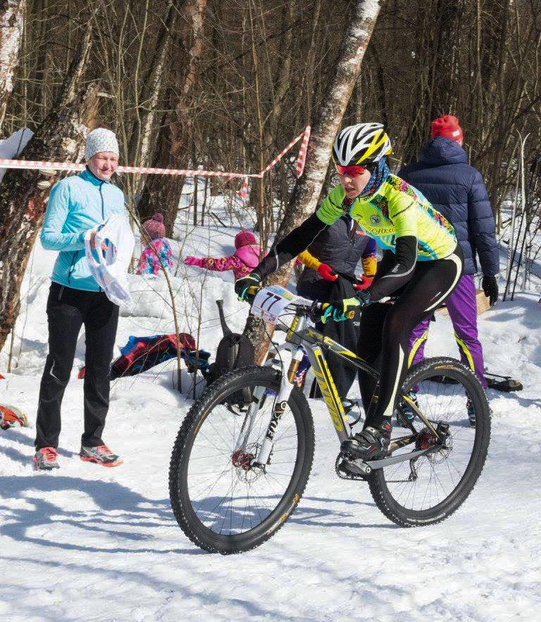 """Триатлон-эстафета """"Зима-Лето"""" 25.03.2018 в Ромашково (бег, велосипед, лыжи). Велоэтап"""
