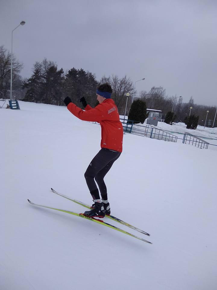 обучение технике конькового лыжного хода