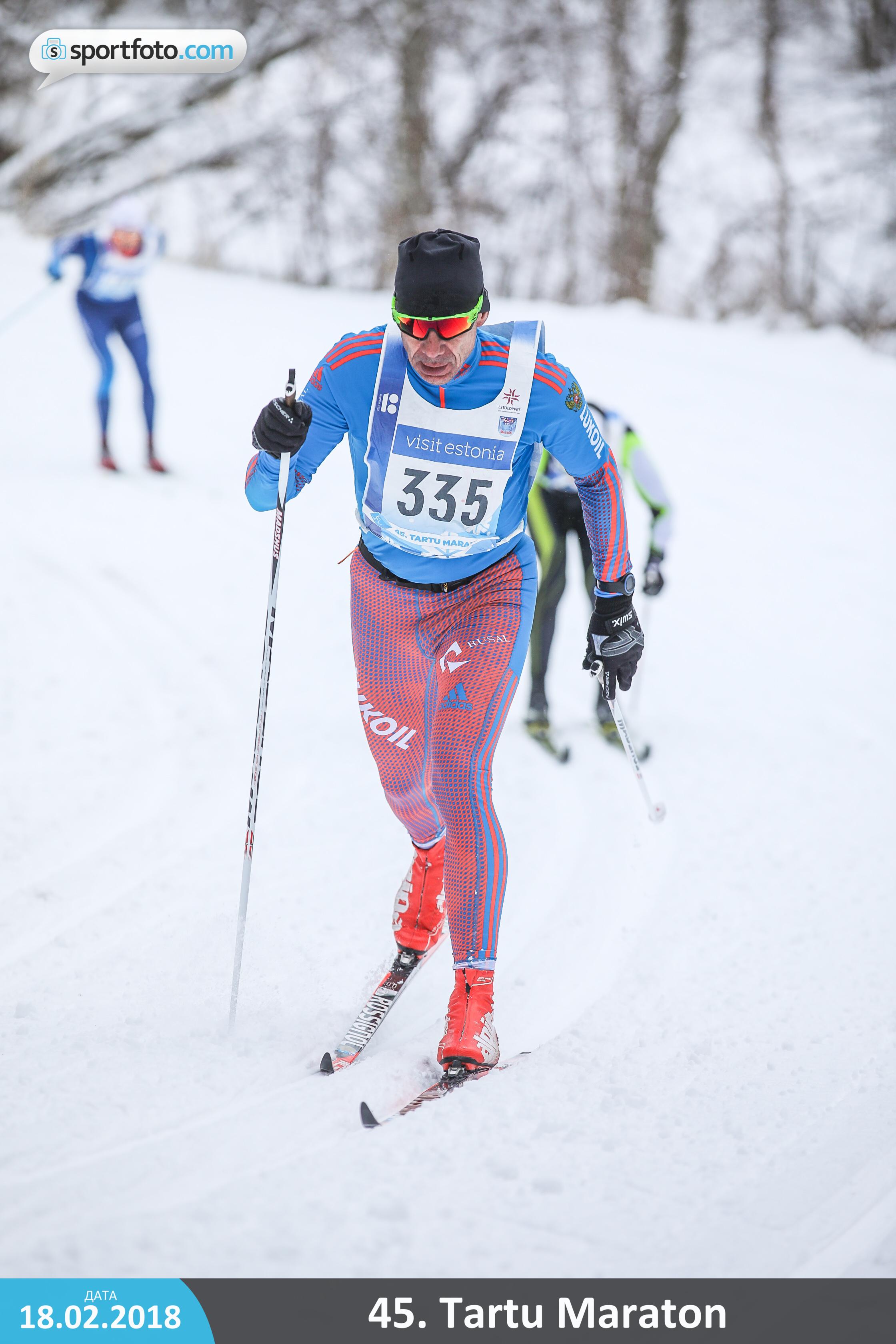 Тренер по беговым лыжам клуба STRELA на лыжном марафоне Тарту 2018