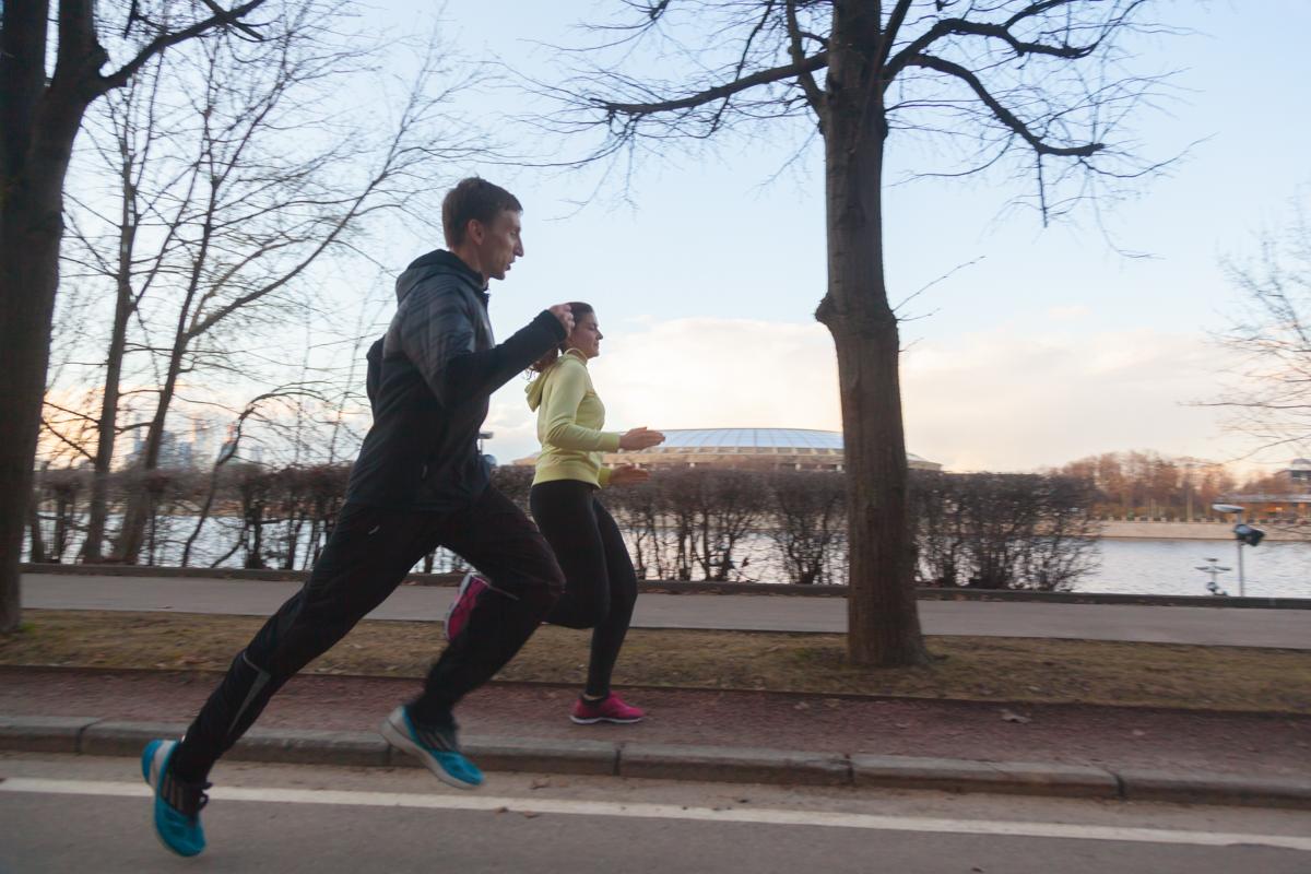 тренировка по бегу с Владимиром Метелкиным