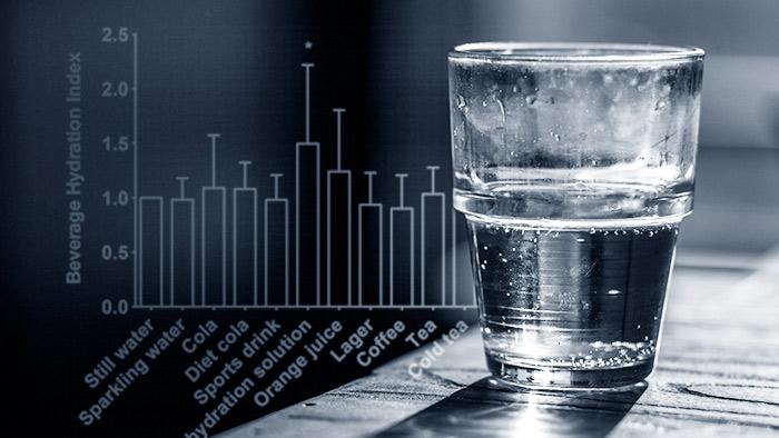 насколько хорошо разные напитки насыщают вас жидкостью?
