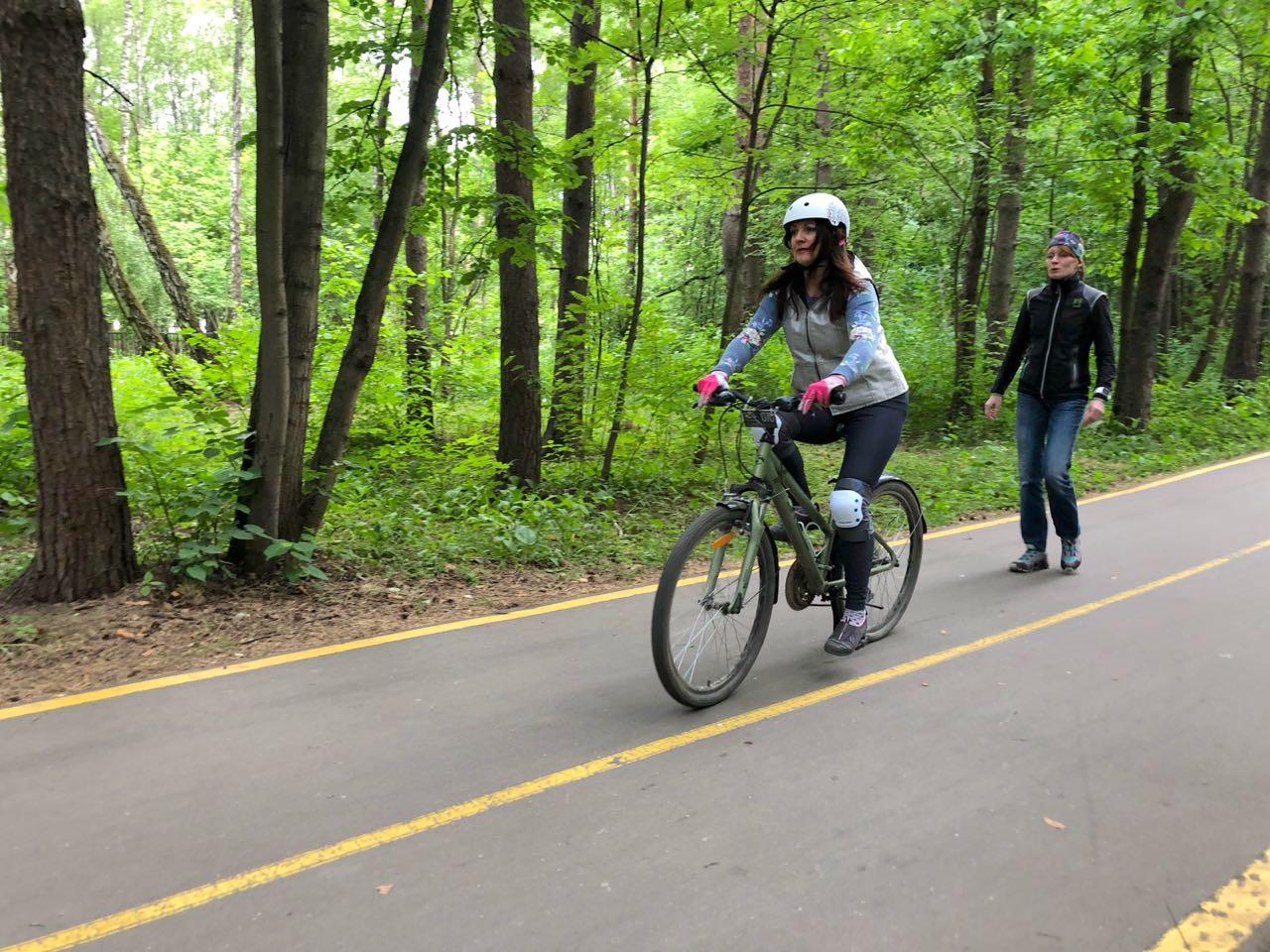 обучение катанию на велосипеде в парке Мещерский