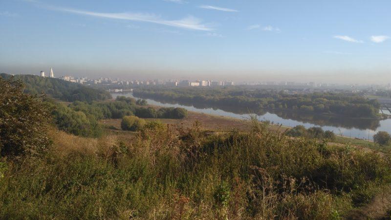 Вид с холма в Коломенском