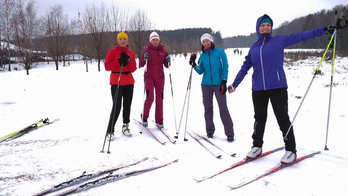тренировка по беговым лыжам для начинающих в Мещерском