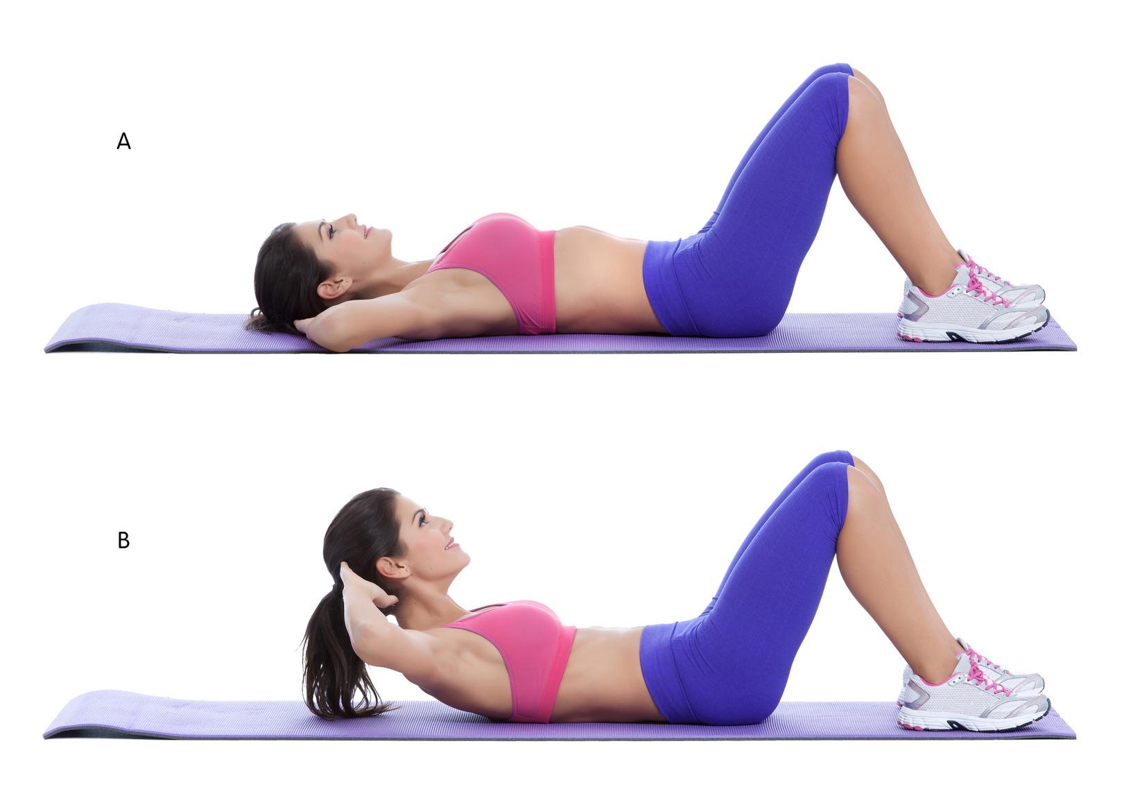 упражнение поднимание верхней части туловища для укрепления мышц кора