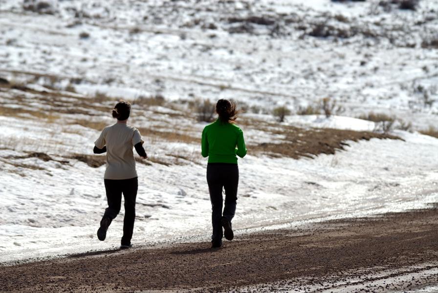 бег в холодное время года