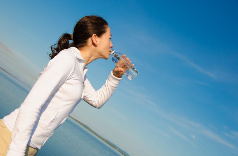 пить вовремя тренировки