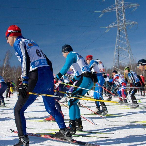 старт лыжных соревнований