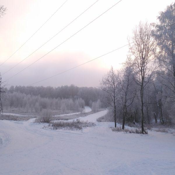 лыжная трасса Альфа-битца 17.12.2018