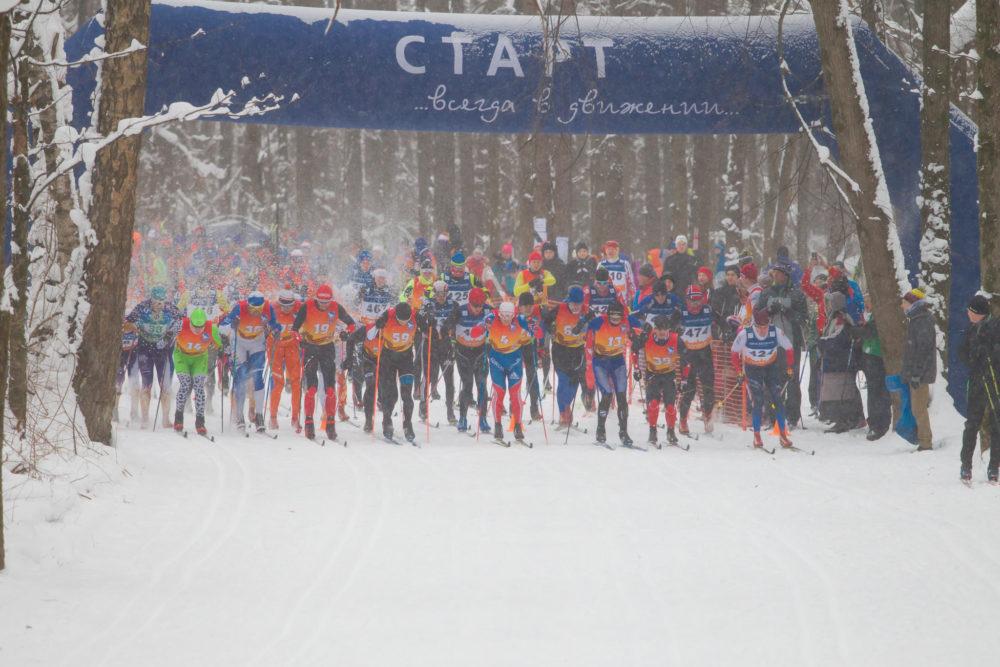 старт Рождественской классической лыжной гонки 8.01.2019, г.Красногорск