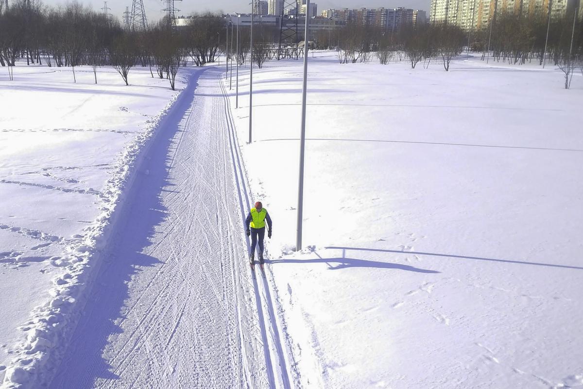 лыжная трасса в Марьино