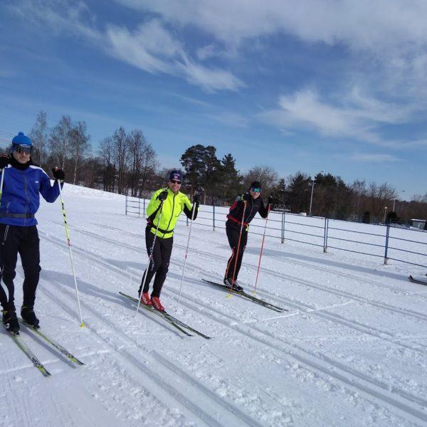 тренировки лыжников