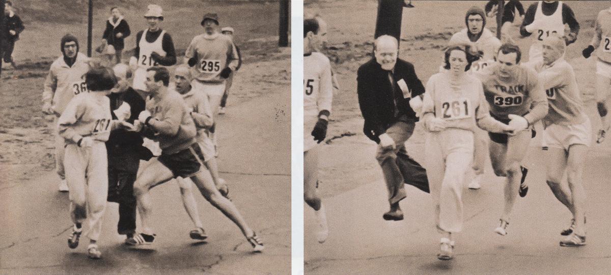Катрин Свитзер - первая женщина, пробежавшая марафон с номером