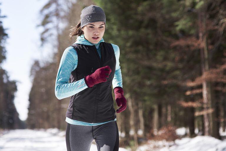 бег на холоде зимой