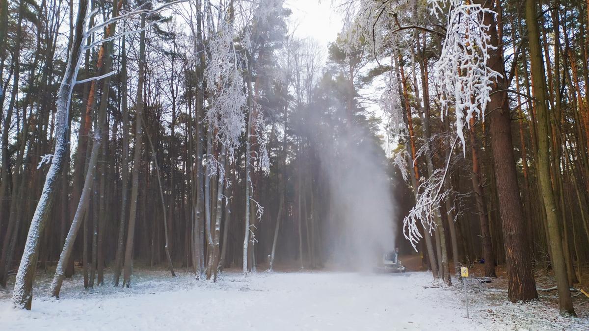 лыжная трасса Волкуша. Снежная пушка