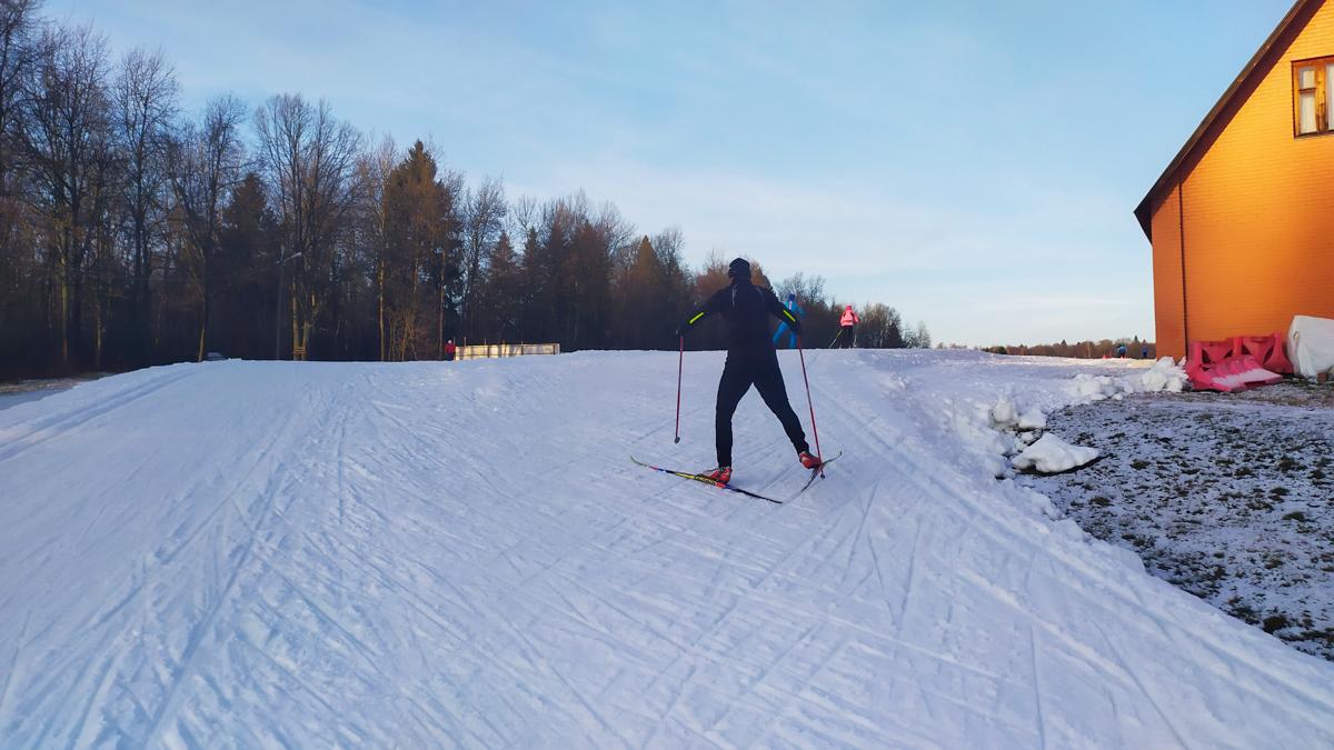 лыжная трасса в Головино 30 ноября 2019 г.