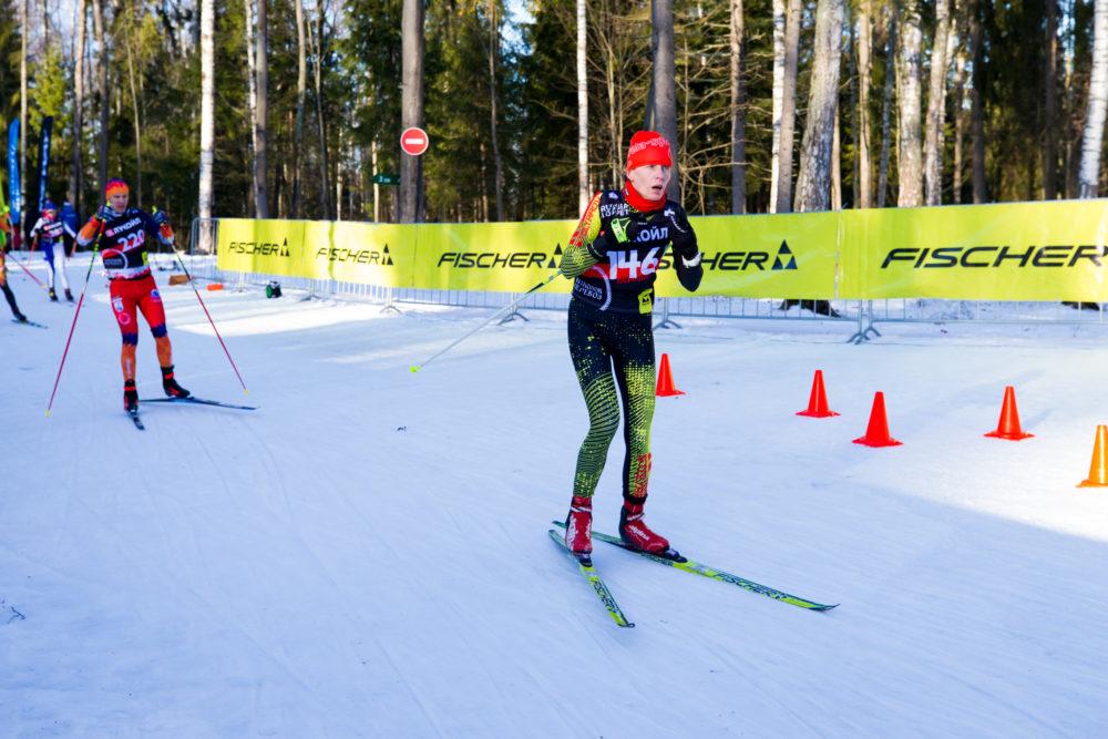 Ольга Полякова на лыжном марафоне Николов Перевоз в Пересвете 18 января 2020