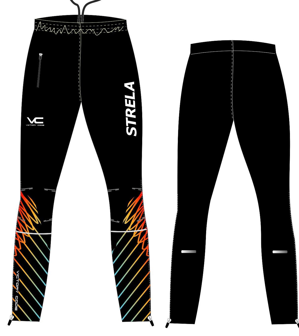 брюки беговые STRELA